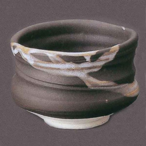 Best Price! Matcha bowl black-and-white sash Mino y867-07