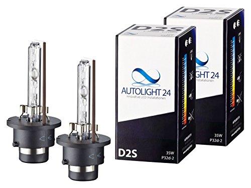 2 x Xenon Brenner D2S - 6000K Ersatz Lampen Birnen E-Zulassung
