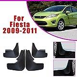 BTSDLXX 4 Pcs Set Coche Guardabarros para Ford Fiesta Sedan 2009-2012, Delanteros Traseros Goma Barro Aletas Protectores contra Salpicaduras Accesorios