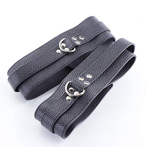 LQZYTY Einstellbare Größe Wasserdicht Modisch PVC Leder Metall Ornamente Rückhaltesysteme Herren Oberschenkel Fesseln Yogamatten T-Shirt