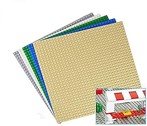 Juego de 5 placas de construcción para bloques de sujeción, 32 x 32 botones, 25 x 25 cm