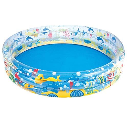 FDY Aufblasbarer Kinderpool Runden Kinderspielplatz Wasserpark Schwimmen Sommer Junge Mädchen Säugling Badewanne Innen Draussen PVC Ohne Luftpumpe