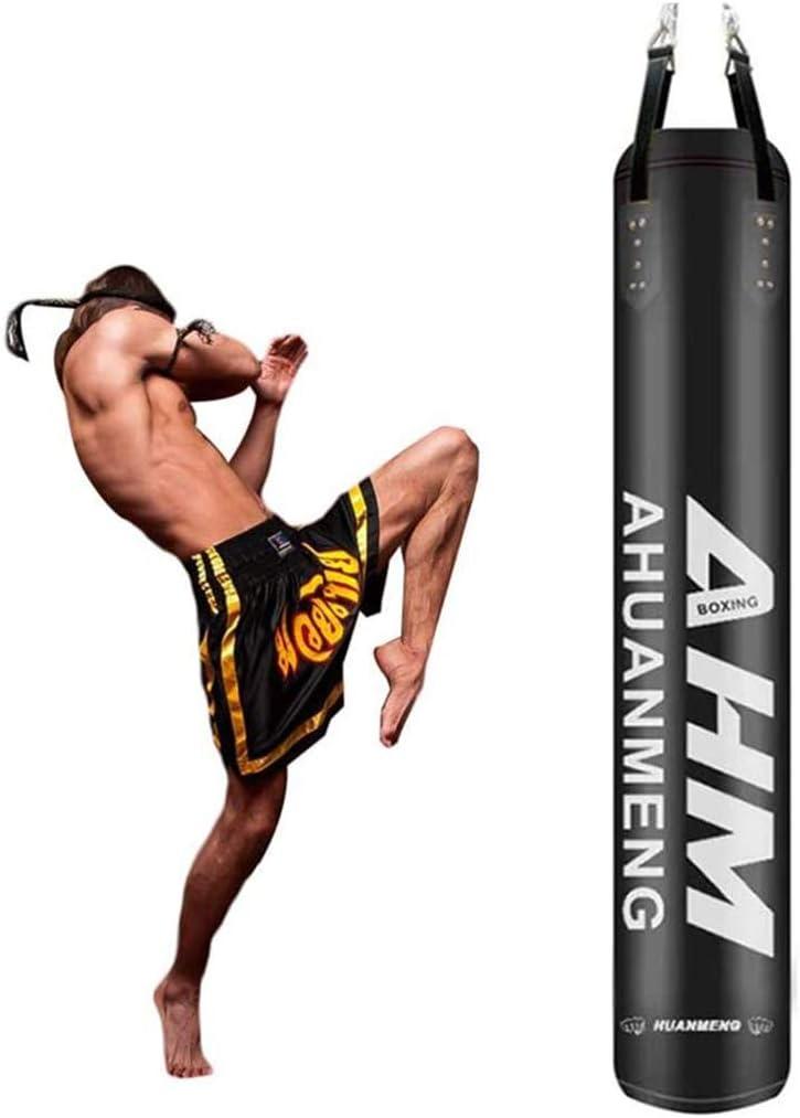 Color:Gelb,Size:180cm H/ängender Hohler Box-Boxsack Aus PU-Mikrofaser-Leder F/ür MMA Muay Thai-Trainingsger/äte LWDDT Gef/üllter Schwerer Boxsack