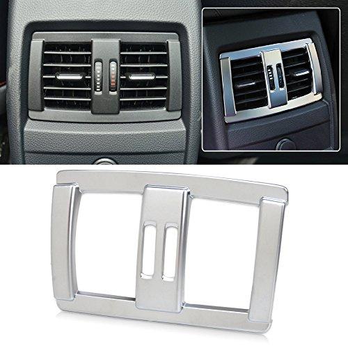 Garniture de ventilation pour siège arrière de voiture - Argent mat - Décoration pour 1 2 3 4 séries F20 F21 F22 F23 F30 F34 2012 2013 2014 2015 2016