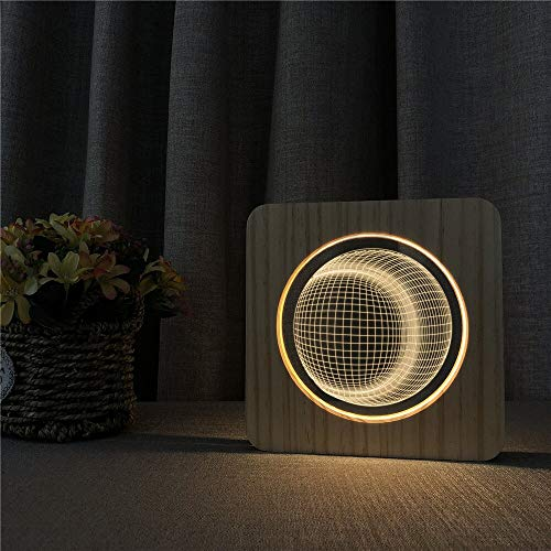 Tratto USB Moon 3D LED Arylic Night Lamp Lampada da tavolo Lampada da intaglio per la decorazione della stanza ns