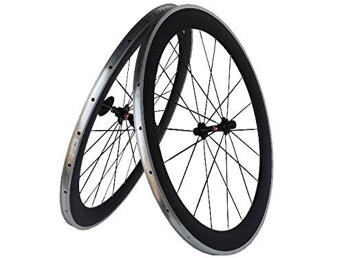 Flyxii in carbonio 3 k opaco, bici da strada-Set di ruote per copertoncino e camera d'aria, 60 mm, Ruote con raggi in lega, lato) per mozzo shimano 8/9/10/11S