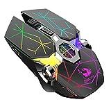 Ratón para Juegos, Gaming Inalámbrico ratón para PC, 2400 DPI Óptico Sensor, 6 Botones , Negro estrella Retroiluminación LED USB Silencioso Ratón Para Windows 7/8/10 / XP / Vista / MAC / Linux Laptop