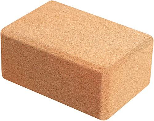 WTTX Cork Wood - Bloque de yoga de ladrillo de alta densidad, 24 x 16 x 8,8 cm, para yoga y pilates, para principiantes y avanzados
