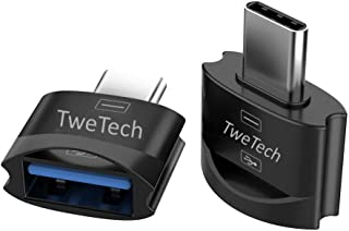 TweTech USB A (Female) to USB Type C (Male) Adapter with Keychain, Aluminum Alloy, OTG, Converter, USB C Adapter, Compatib...