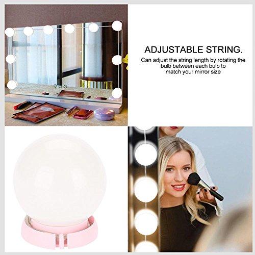 LED Vanity Mirror Lights Kit, Acogedor 7000K Hollywood Style Vanity Mirror Lights with Dimmable Light Bulbs - Lighting Fixture Strip for Makeup Dressing Table Vanity Set