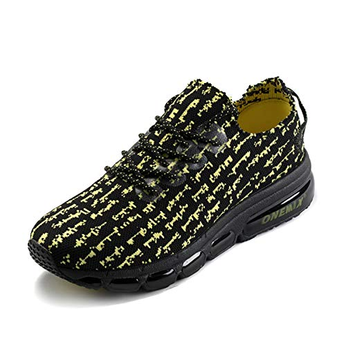 ONEMIX Zapatillas Hombre Mujer Deporte Running Sneakers Zapatos para Correr Gimnasio Deportivas Transpirables Casual 1236 40EU