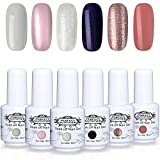 Perfect Summer New Colors Gel Polish Nail Varnish 6PCS Popular Colors Collection UV LED Manicure Set 8ML #015