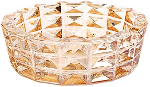 Cenicero redondo de cristal colorido para interiores al aire libre,Cenicero de cristal transparente para cigarros y ceniceros exteriores para cigarrillos,Decoración de mesa comercial