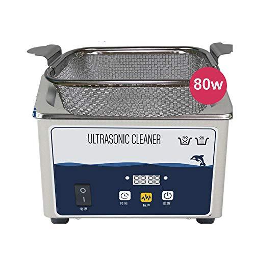 LXMBox 800ML Ultraschallreiniger Beheizt Mit Einstellbarer Zeitschaltuhr Und Heizfunktion Ultraschallreinigungsmaschine Mit BelüFtungsöFfnungen,B