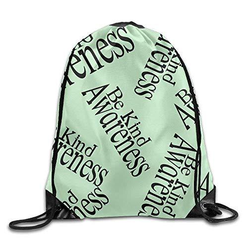engzhoushi Turnbeutel,Sporttaschen,Schultasche Be Kind Awareness Unisex Sack Cinch Backpack Gym Drawstring Bags.