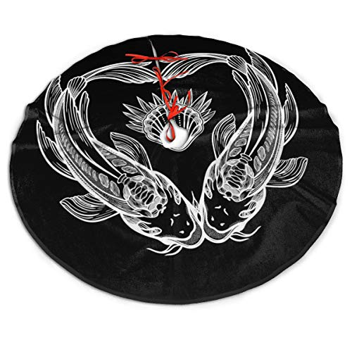 NMCEO Christmas Tree Skirt Symbol of Harmony. Tree Skirts Mat for Christmas Holiday Party Decorations ,Soft, Easy to Put, Light and Good to Touch