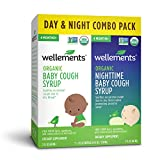Wellements Cough Syrup (Organic Baby Cough 2 Pack (Day & Night), 2 oz. Day and Night Formula) Free from Dyes, Parabens, Preservatives…