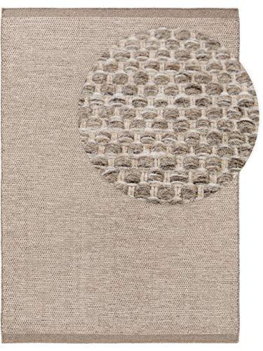 benuta NATURALS Wollteppich Rocco Taupe 300x400 cm - Naturfaserteppich aus Wolle