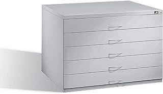 CP Meubles à plans - pour format A1 - 5 tiroirs, gris clair RAL 7035, poids 113 kg - Armoire Armoire d'archivage Armoires ...