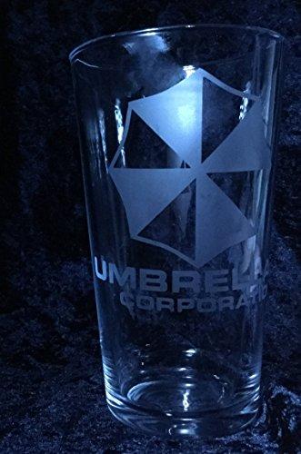 Resident Evil - Umbrella Corporation - Etched glass -
