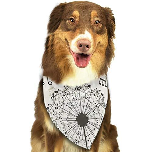 Huyotop Halstuch für Hunde und Katzen, mit Pusteblumen-Motiv, dreieckig