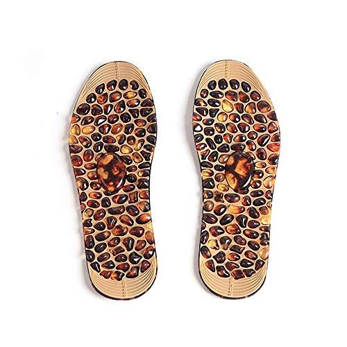 VBARV Fußmassage Einlegesohle - Gummi-Kopfsteinpflaster Akupunkturpunkt Design Reflex Therapie Massagekissen zur Linderung von Fußdekompressionsschmerzen bei Männern und Frauen