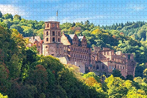 Jigsaw Puzzle for Adults Heidelberg Castle Germany Puzzle 1000 Piece Wooden Travel Souvenir Gift