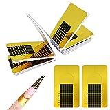 Ealicere 200 Pezzi Rotolo Cartine Oro Extension model Cartine Ricostruzione Unghie per Unghie Ricostruzione Fai da te Allungamento Unghie professional UV gel nail