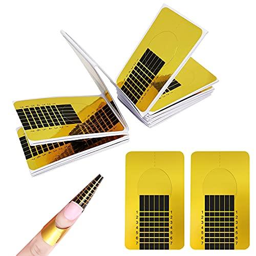 Ealicere 200 pièces chablons extend papier,Nail Art Conseils Extension Stickers pour extension d'ongle acrylique gel UV extension d'ongle
