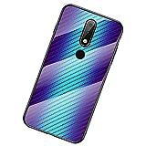 UKDANDANWEI Nokia Coque,Etui de Téléphone en Fibre de Carbone et Verre Trempé Transparent...