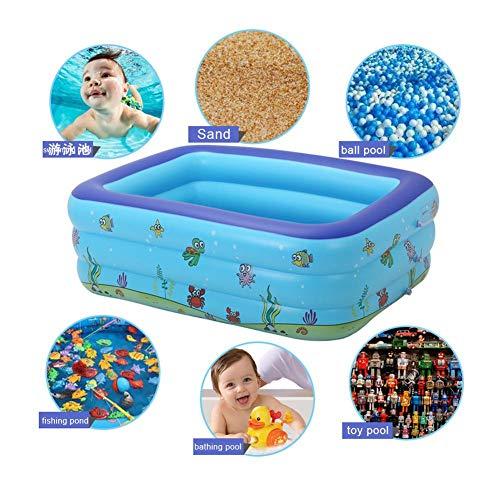 Aufblasbarer Swimmingpool Der Kinder, Tragbare Aufblasbare Kinderpool-PVC-materielle Badewanne Für Im Freienstrand-Sommerfeste Blau