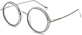 Inlefen Round frame Eyeglasses metal frame fashion Optical glasses Unisex