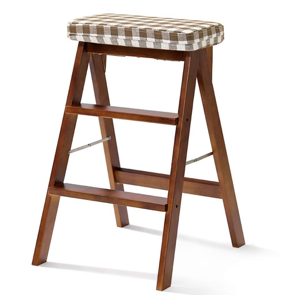 Escalera plegable taburete banqueta Escaleras de mano for niños mayores, escalera de cocina liviana plegable de madera for trabajo pesado con paso ancho Paso 3, negro, 100 kg (Color : B): Amazon.es: