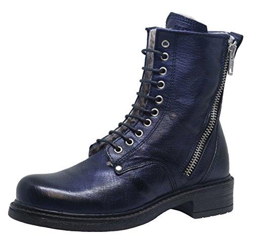 Momino 3550M Stiefel Boots Mädchen, Blau (9273 Savana Blu), EU 30