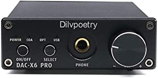 Dilvpoetry DAC-X6 Pro USB DAC Headphone Amplifier 24Bit/192kHz 450mW 6.35mm Stereo Amplifier Optical Coaxial DAC Amplifier...