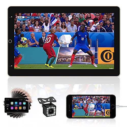 CAMECHO Android 10 Pollici Autoradio 2 din GPS Ruotato Orizzontale Verticale Schermo Auto Stereo Unità Principale Con Bluetooth FM Radio WIFI Doppia USB Specchio Collegamento+Backup Telecamera