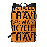 Homebe Scolaire Sac Sac à Dos Cartable for Boys and Girls,Lovely I Have Too Many Bicycles Said Nobody Ever Printed Primary Junior High School Bag Bookbag