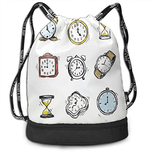 DDHHFJ Multifunctional Drawstring Backpack for Men & Women, An Assortment of Vintage...
