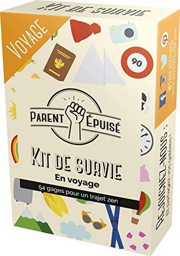 Parent Épuisé: Kit de Survie Voyage - Asmodee - Jeu de société - Jeu de cartes - Jeu enfants