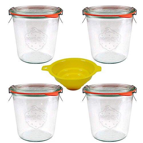mikken 4 Weck Rundrandgläser, Glas, 4