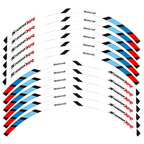Pegatina de Rueda para la Motocicleta B-M-W, Las calcomanías de la Rueda de la Cinta de rón de la Cinta de Rayas Pegatinas Reflectantes Ramas de la llanta para B-M-W S1000 XR S1000XR (Color : C)