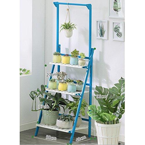 Présentoir d'intérieur d'usine, support se pliant de fleur en bambou, support accrochant de stockage d'usine de panier de balcon (taille : L50CM*40CM*96CM)