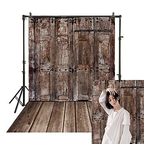 SM-1080 Traditionele studio achtergrond oude chique grunge houten deur fotografie polyester doek terug druppels behang portret stand achtergrond