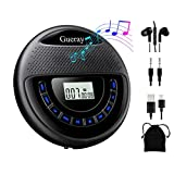 Gueray CD Player Portable Rechargeable with Speaker Dual Stereo 1400mAh CD Walkman CD Discman Backlight Battery Personal...