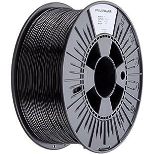 3D Prima PrimaValue PLA Filament, 1.75 mm, 1 kg Spool, Black