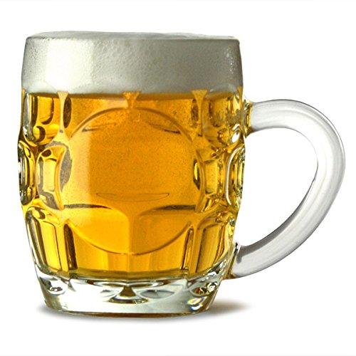 Arcoroc Britannia Boccali da birra da 285 ml, per mezza pinta di birra, set da 4