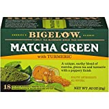 Bigelow Tea Matcha Green Tea with Turmeric, 18 Count (Pack of 6), 108 Tea Bags Total
