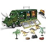Juguetes para Camiones Dinosaurios Modelos para niños, vehículos de Almacenamiento, Transporte, Juguetes con Luces y música Mejor Juguete de Dinosaurio para niños y niñas a Partir de 3 años