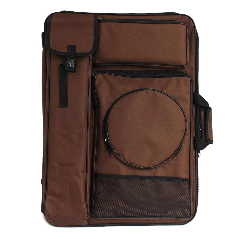 インタビュー服を片付ける株式会社スケッチキャンバスバッグ絵画バッグ顔料カートリッジバッグ66 * 50 cm学生画材 SHANCL (Color : Brown)