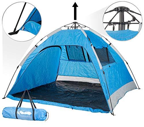 Semptec Urban Survival Technology Strandmuschel: Extragroßes Automatik-Strandzelt für 3 Personen, UV 50+ (Strandmuschel Wurfzelte)